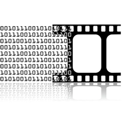 Digital movie vector image