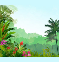 exotic tropical background beautiful vector image vector image