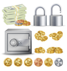 finance secure concept gold silver vector image
