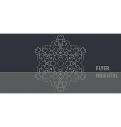 Flayer template design in dark color abstract vector