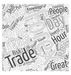 Forex trading robot word cloud concept vector