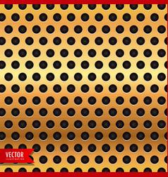 golden circle metal texture background vector image vector image