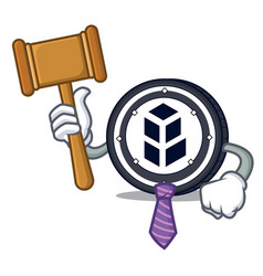 Judge bancor coin mascot cartoon vector