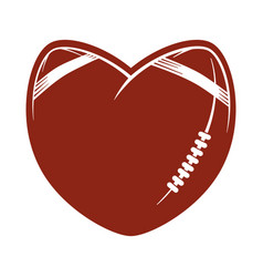 Love concept american football logo vector