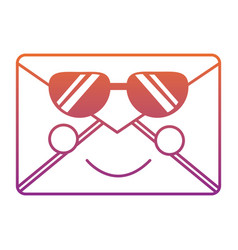 Mail envelope kawaii character cartoon vector