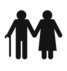 Man and woman in old age vector image vector image