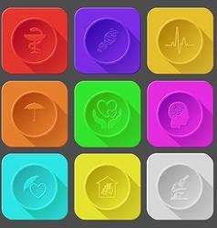 Pharma symbol dna cardiogram umbrella love in vector