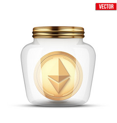 symbol of save digital cryptocurrency money vector image vector image