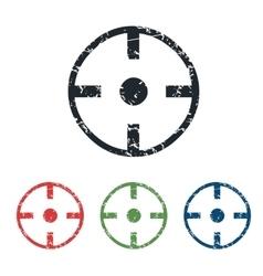 Target grunge icon set vector