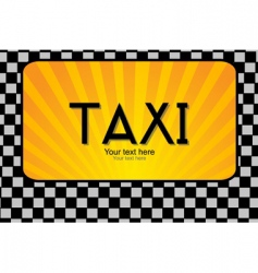 taxi text vector image