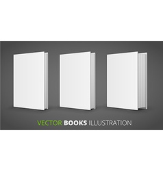 Three books vector