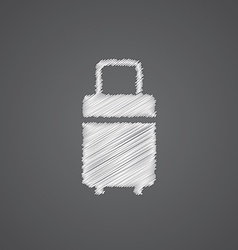 travel bag sketch logo doodle icon vector image