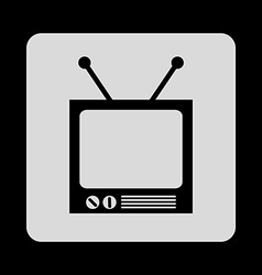 tv icon vector image