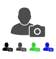User photo flat icon vector