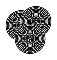 Vinyl records icon in black style isolated on vector image