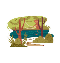 Wild jungle forest vector