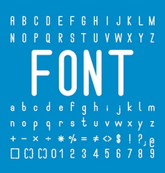 Rounded font family and alphabet design vector