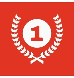The award icon wreath symbol flat vector
