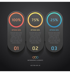 Infographics elements numbers template vector