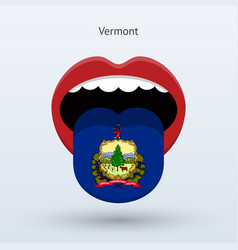 Electoral vote of vermont abstract mouth vector