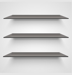 Empty shelves on light grey background vector
