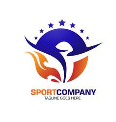 Power spirit sport fit fresh healthy vector
