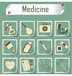 Retro icons medicine vector