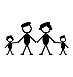 Military stick family vector