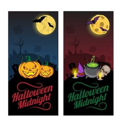 Halloween banners or flyers concept vector