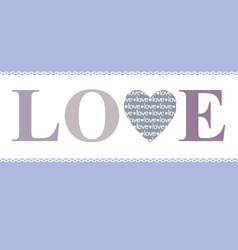 Love in heart lavender vector