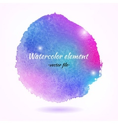 Watercolor Abstract Colorful Element vector image