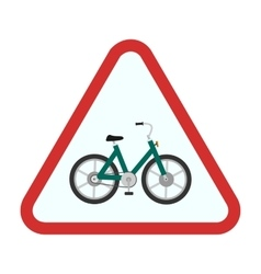Cycle stand sign vector