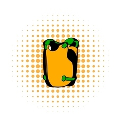 Vest comics icon vector