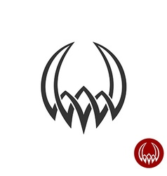 Mythology weaving abstract tattoo symbol round vector