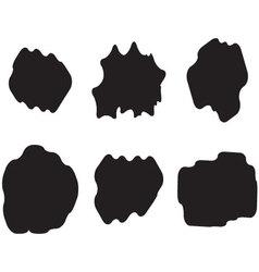 Black white set cloud vector