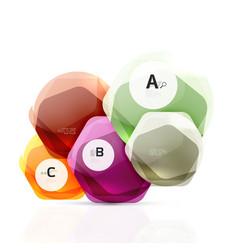 abstract geometrical hexagon banner vector image