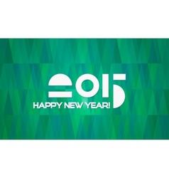 Abstract Minimalistic Happy New Year 2015 Banner vector image vector image