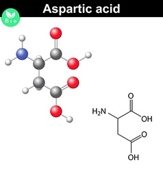 Aspartic acid chemical structure vector image
