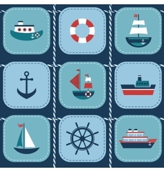 background with water transport vector image vector image