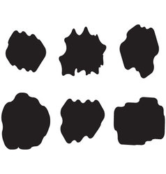 Black white set cloud vector image