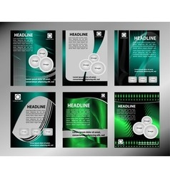 Business flyer template or corporate banner vector image
