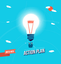business marketing big idea concept vector image vector image