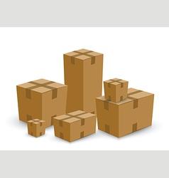 Cardboard box set vector