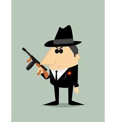 Cartoon gangster vector