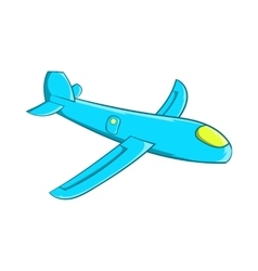 Children plane icon cartoon style vector