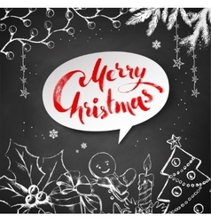 Christmas of festive objects vector image vector image