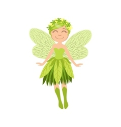 Cute Forest Fairy Girly Cartoon Character vector image