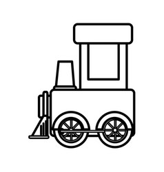 cute train toy icon vector image