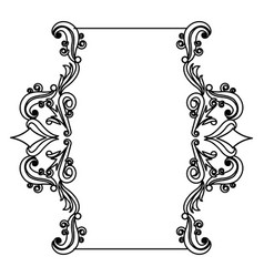Decorative frame floral border cute image vector