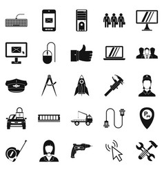 Endorsement icons set simple style vector